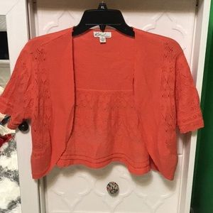 Kim Rogers medium pumpkin color shrug